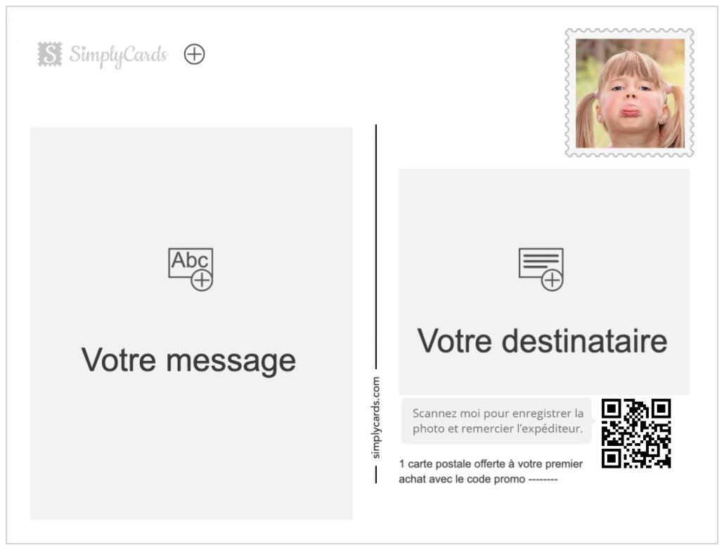 Envoyer une carte postale avec un timbre personnalisé - SimplyCards