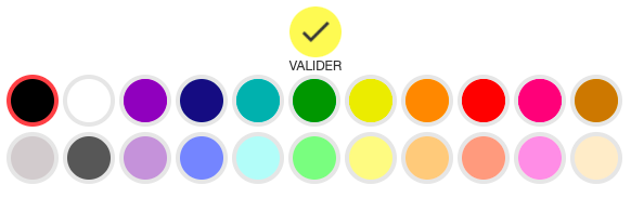 couleurs des fonts