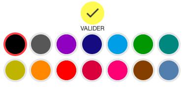 Palette de couleurs verso