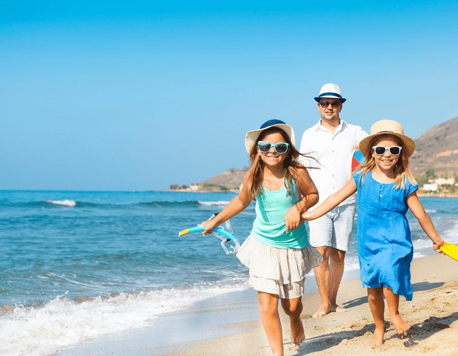 famille photos de vacances