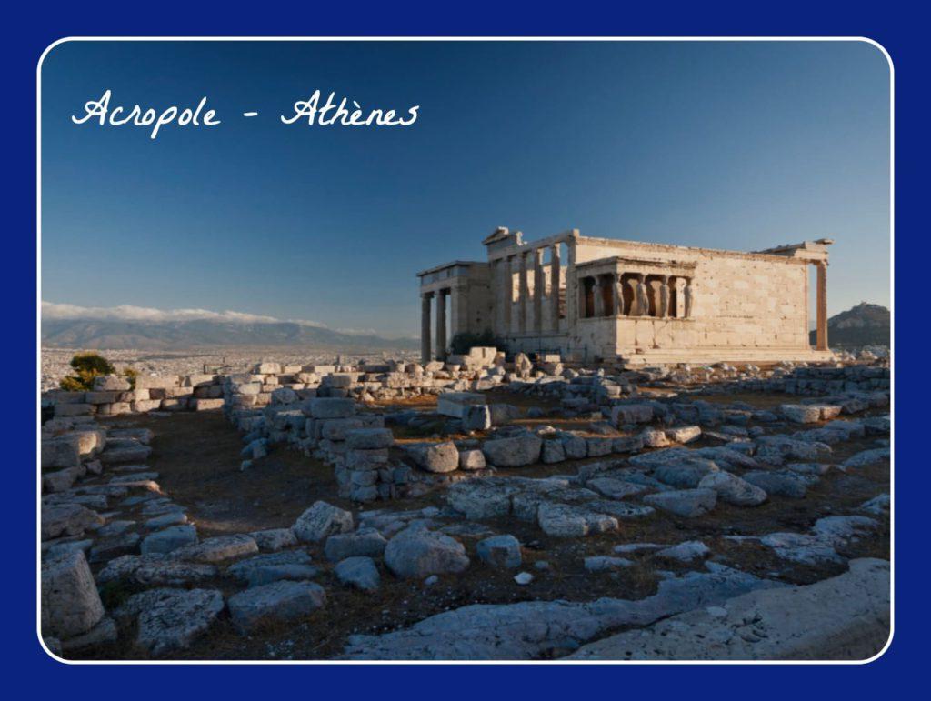 L'Acropole d'Athène, un des sites historiques classé au patrimoine de l'UNESCO